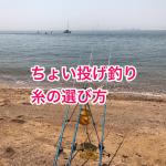 ちょい投げ釣りの糸の選び方